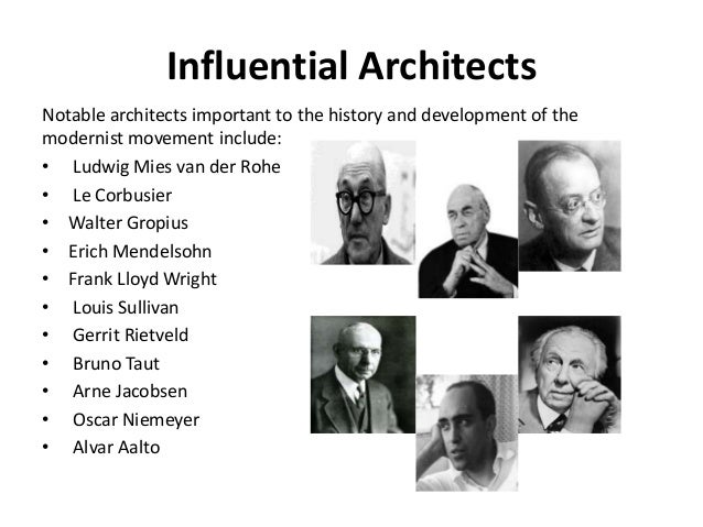 Notable Architecture modernism & postmodernism in architecture