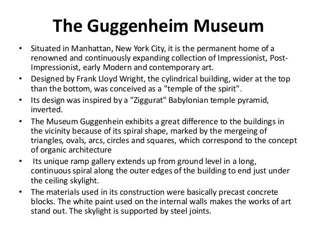 an analysis of the style of architecture in guggenheim museum in bilbao Guggenheim museum bilbao museo guggenheim  the guggenheim museum bilbao is a  the show and their published book international style, modern architecture.