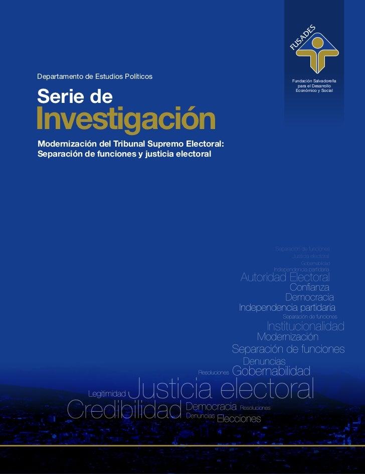Departamento de Estudios Políticos              Fundación Salvadoreña                                                   pa...