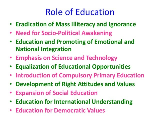 essay on role of education in national reconstruction View and download reconstruction essays examples thesis statements, and conclusions for your reconstruction essay reconstruction and black education in the.