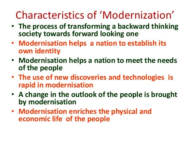 concept of modernization in education