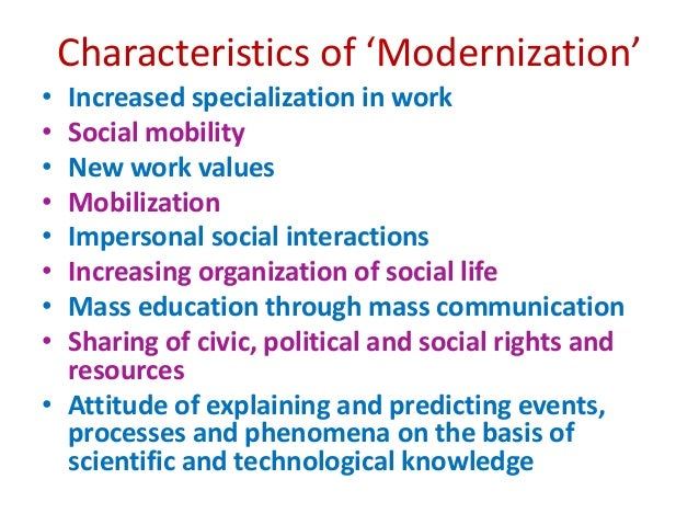 essay on modernisation in india