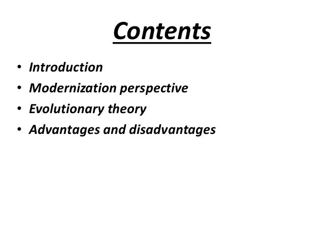 advantages of modernization theory
