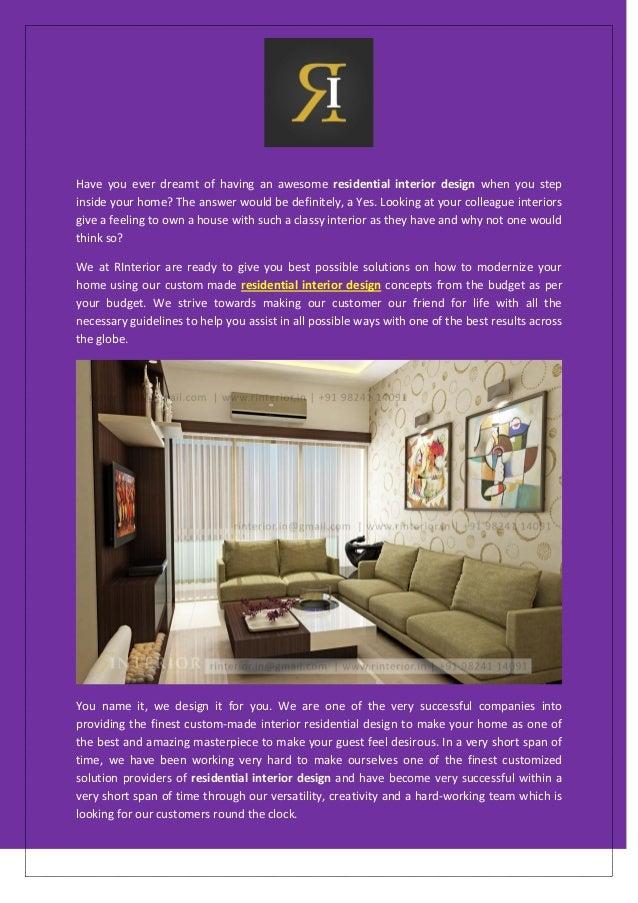 Modernize Your Home Residential Interior Design Concept R