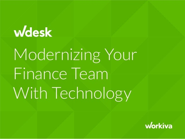 Modernizing Your Finance Team With Technology