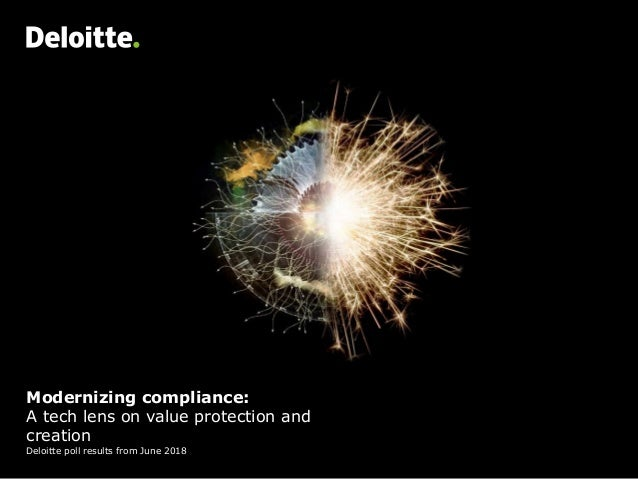 Modernizing compliance: A tech lens on value protection and creation Deloitte poll results from June 2018