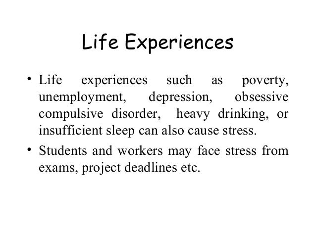 causes of stress in modern life