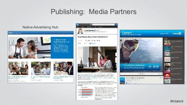#intalent Publishing: Media Partners Native Advertising Hub