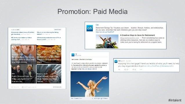 #intalent Promotion: Paid Media