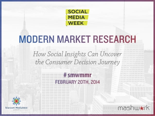 Modern Market Research How Social Insights Can Uncover the Consumer Decision Journey # smwmmr February 20th, 2014