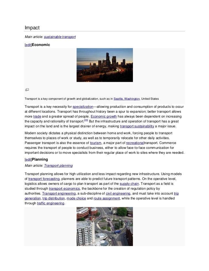 essay on modern transport system