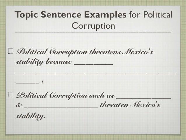 Essay impact corruption society