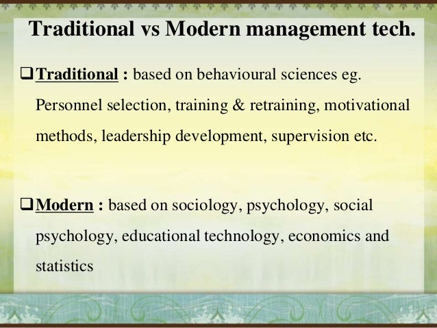 Traditional And Modern Classroom Management ~ Modern mgmt tchnq
