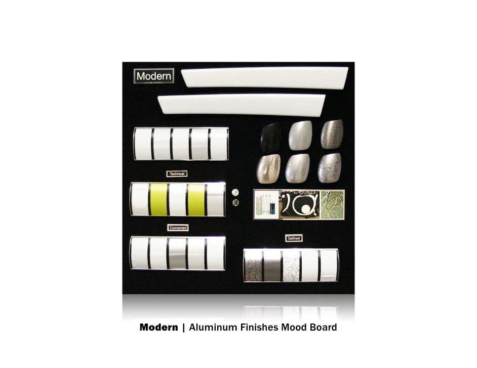 Modern | Aluminum Finishes Mood Board