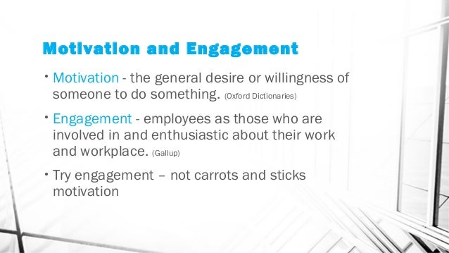 modern motivation and employee engagement theories