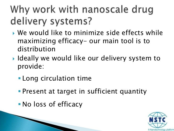 We would like to minimize side effects while maximizing efficacy- our main tool is to distribution<br />Ideally we would l...
