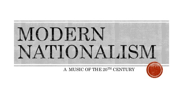 A MUSIC OF THE 20TH CENTURY