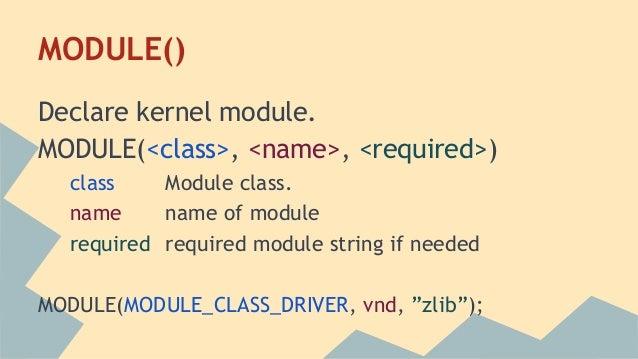 Modern net bsd kernel module
