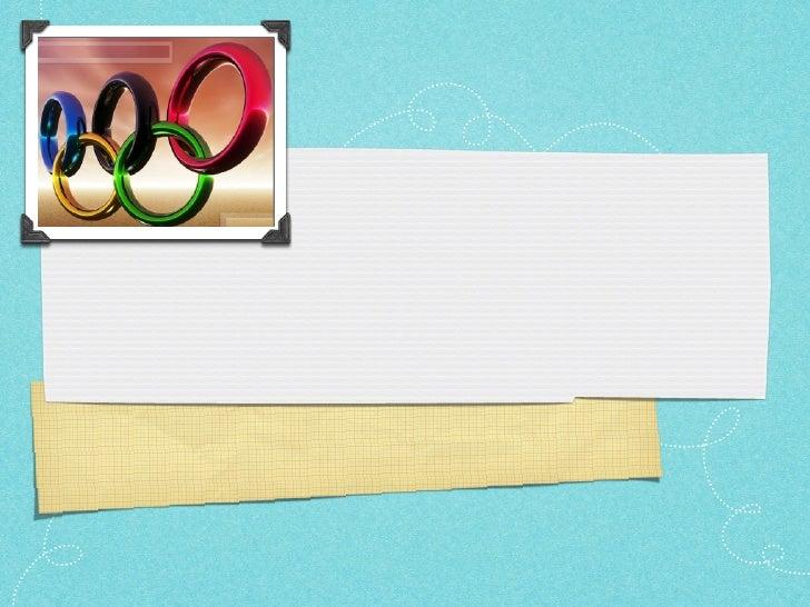 The Modern Olympics.
