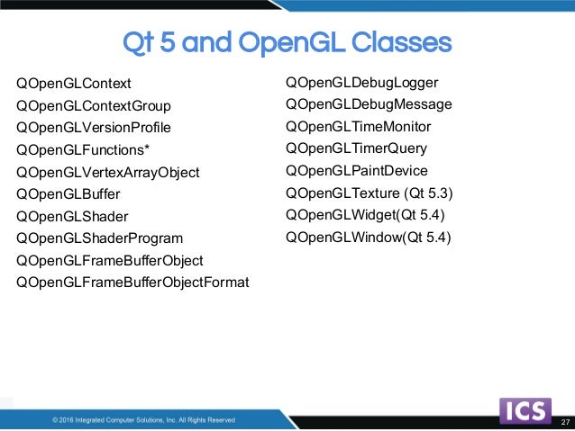 Convert Your Legacy OpenGL Code to Modern OpenGL with Qt