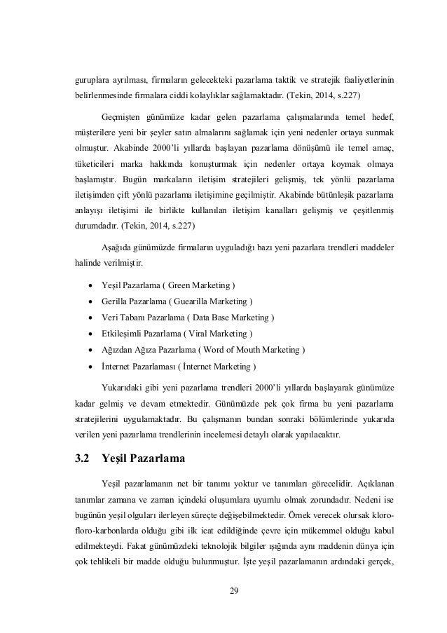 Pazarlama faaliyetlerinin analizi