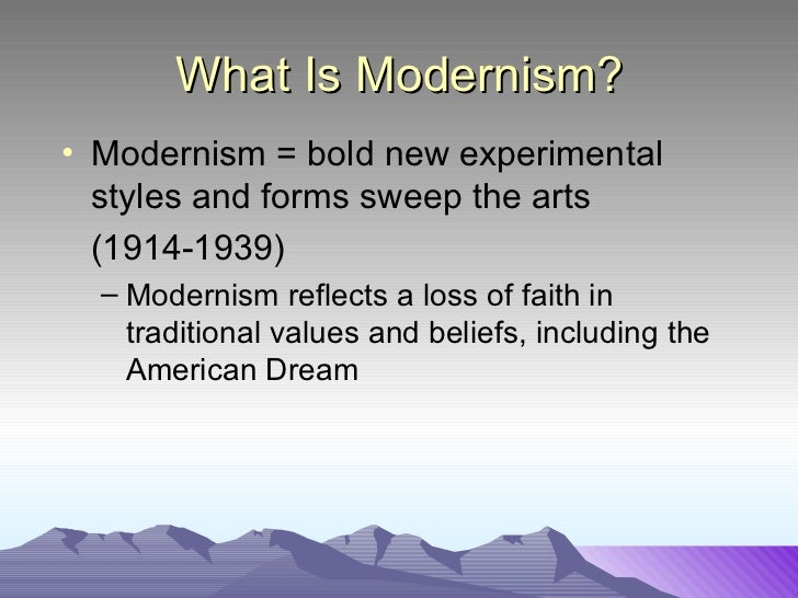 modernism essay The differences between realism, modernism and the differences between realism, modernism and taken over post-modernism trends this essay is not the full.