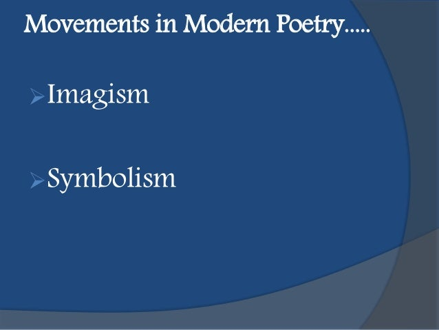 how is imagism part of modernist literature