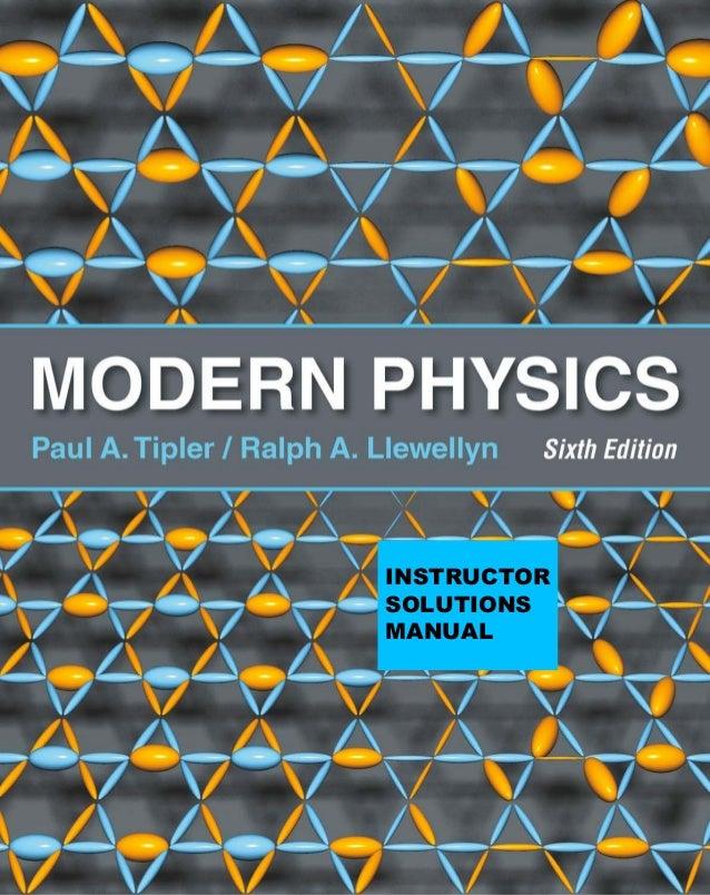 Modern physics paul a. tipler 6ª edição solutio manual