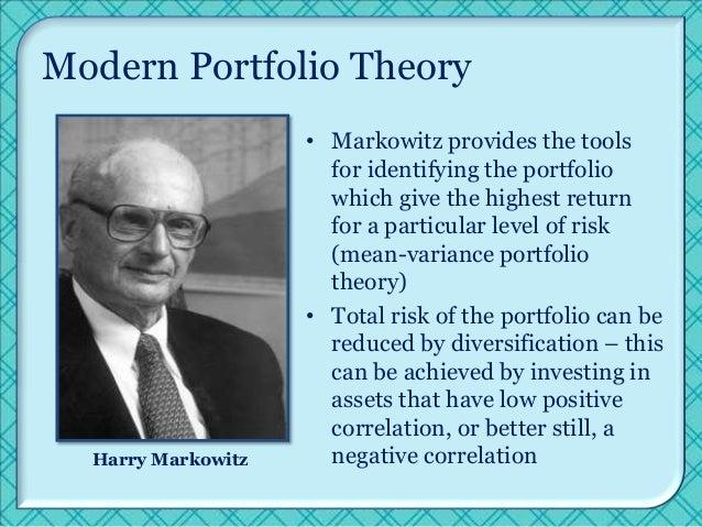 portfolio theory Portfolio theory - find out about the modern portfolio theory.