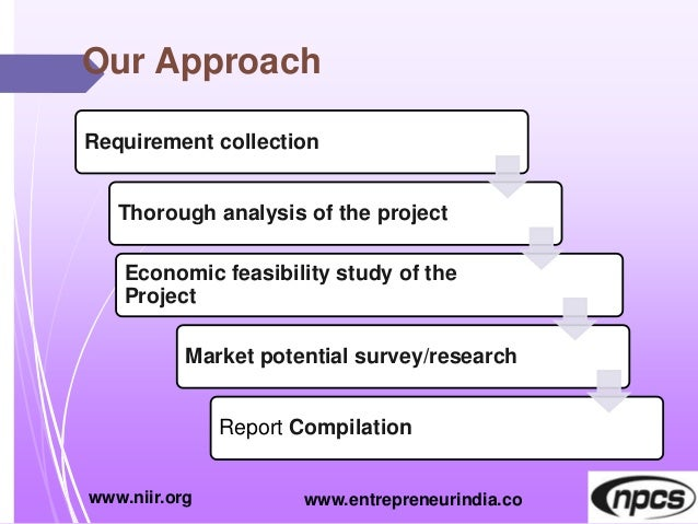 Our Approach Requirement collection Thorough analysis of the project Economic feasibility study of the Project Market pote...