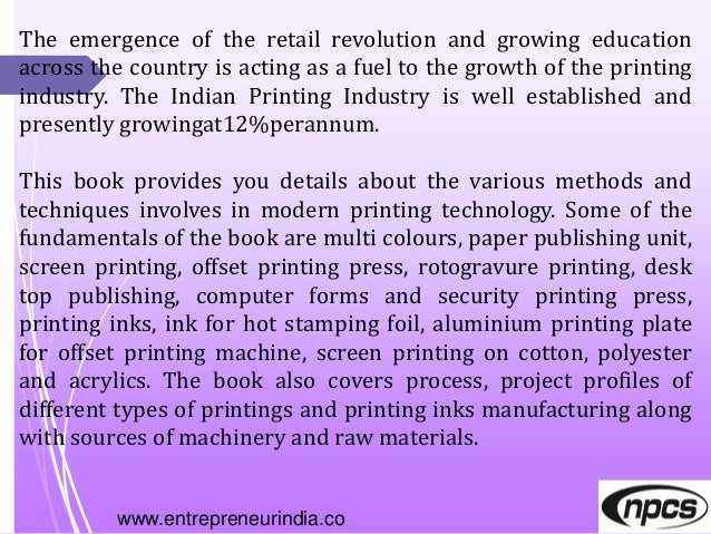 www.entrepreneurindia.co The emergence of the retail revolution and growing education across the country is acting as a fu...