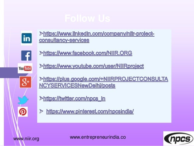 www.niir.org Follow Us www.entrepreneurindia.co