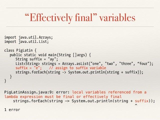 Modern Programming in Java 8 - Lambdas, Streams and Date