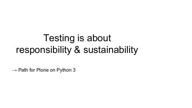 Modern Python Testing Slide 3