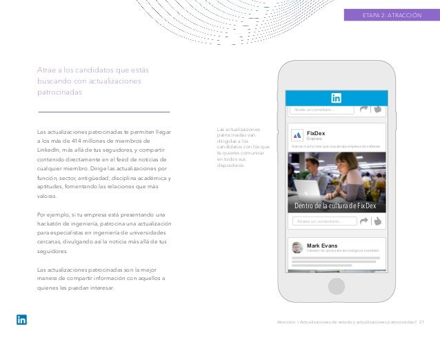 Las actualizaciones patrocinadas te permiten llegar a los más de 414 millones de miembros de LinkedIn, más allá de tus seg...