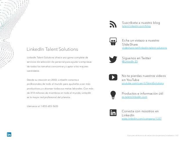 Suscríbete a nuestro blog talent.linkedin.com/blog No te pierdas nuestros vídeos en YouTube youtube.com/user/LITalentSolut...