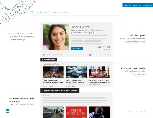 Características de un buen perfil Conectar Marta Solana Busco candidatos cualificados para potenciar nuestro equipo Más de ...