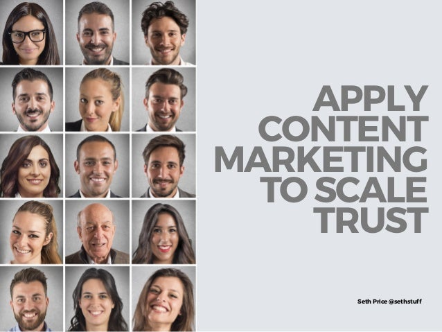 DON'T CONFUSE BLOGGING WITH CONTENT MARKETING Seth Price @sethstuff