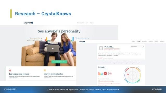 IPULLRANK.COM @ IPULLRANK Research – PeoplePattern People Pattern is an enterprise tool that accomplishes similar goals, b...