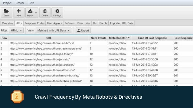 Crawl Frequency By Link Data