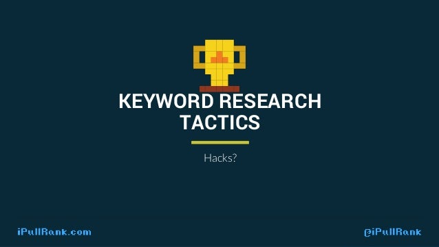 Because we take an audience focused approach, there is no hacking keyword research.