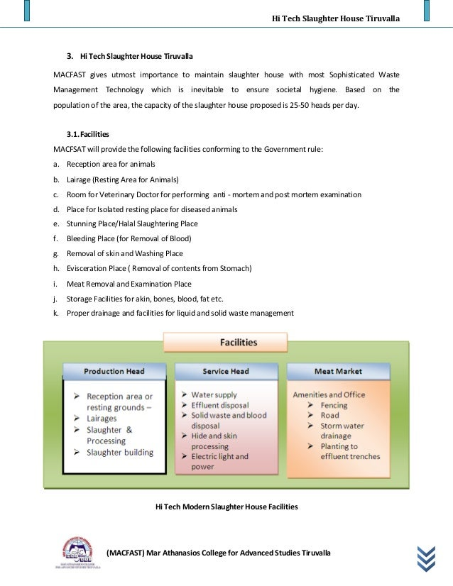 Modern slaughter house layout pdf