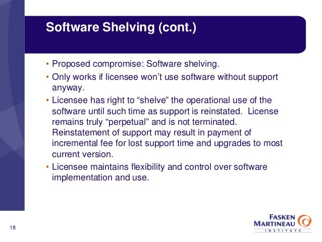 new shifts in software licensing and Technology essays: new shifts in software licensing and pricing.