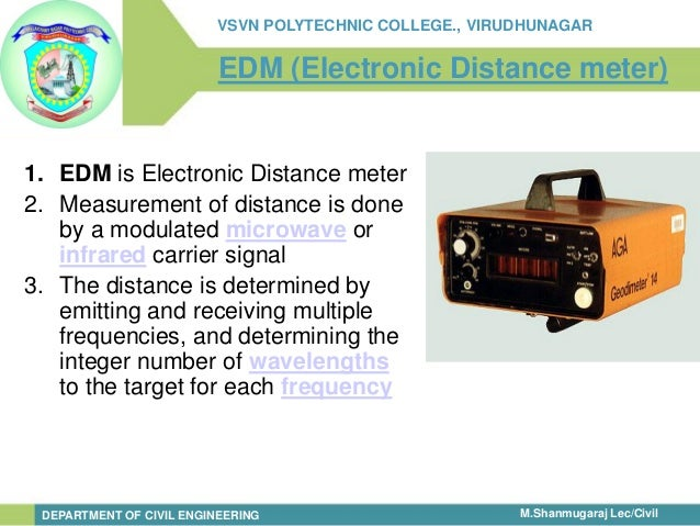 Surveying Electronic Distance Measurement : Modern surveying
