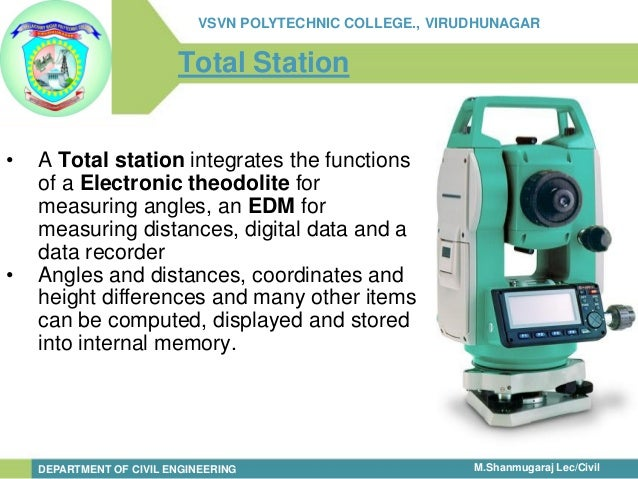 total station working principle pdf