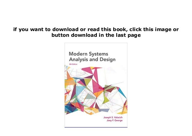 Book Kindle Library Modern Systems Analysis And Design 8th Edition 8t