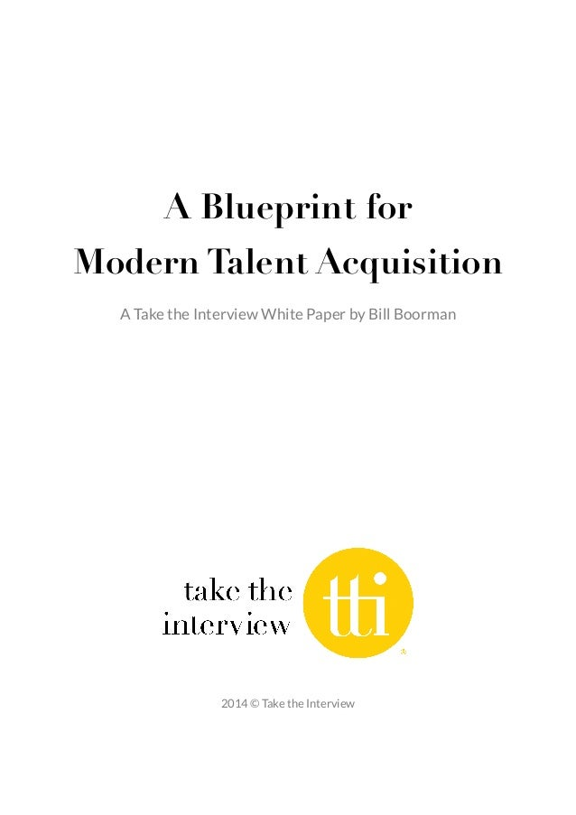 ! ! A Blueprint for