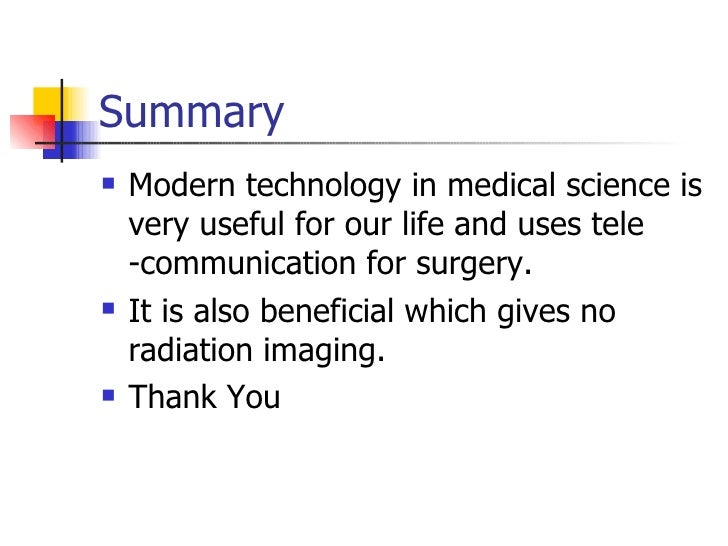 Technology in Medical