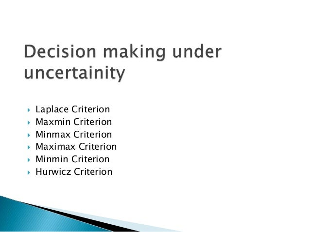 Risk and uncertainity in the decision