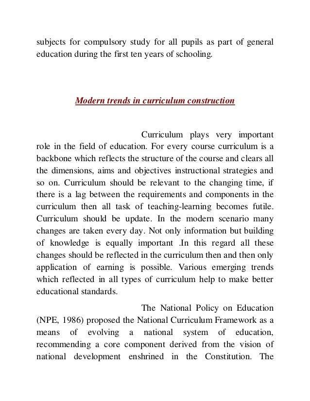 curriculum trends Public group active 14 hours, 24 minutes ago author: mark priestley,professor gert biesta book: reinventing the curriculum: new trends in curriculum policy and.